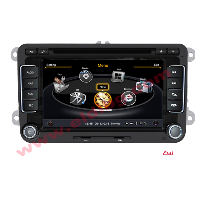VW GPS Volkswagen Parking and climate control VW Bluetooth Golf mk5